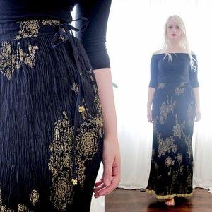 Indian Crushed Broomstick cotton block print Skirt